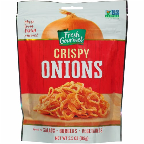 Fresh Gourmet Crispy Onions Perspective: front