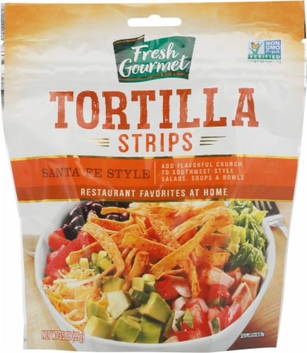 Fresh Gourmet Santa Fe Style Tortilla Strips Perspective: front