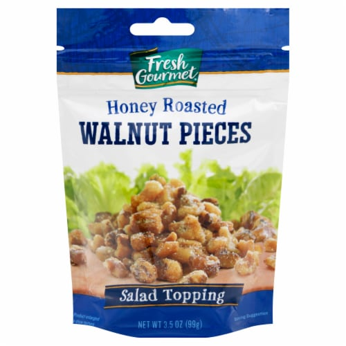 Fresh Gourmet Glazed Walnut Pieces Salad Topping Perspective: front