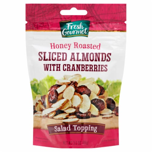 Fresh Gourmet Honey Roasted Almond & Cranberries Salad Topping Perspective: front