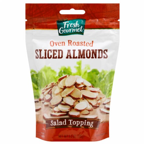 Fresh Gourmet Oven Roasted Sliced Almonds Salad Topping Perspective: front