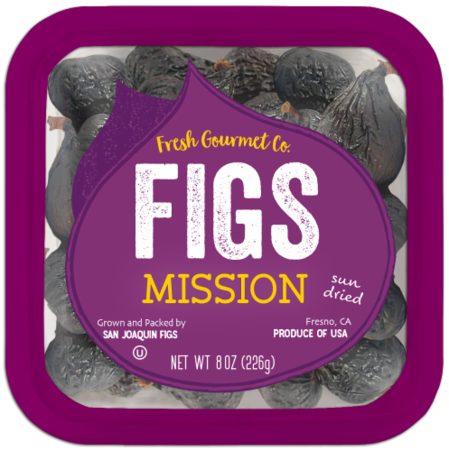 Fresh Gourmet Sun Dried Mission Figs Perspective: front