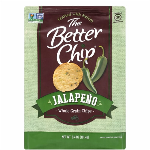 The Better Chip Jalapeno Whole Grain Chips Perspective: front