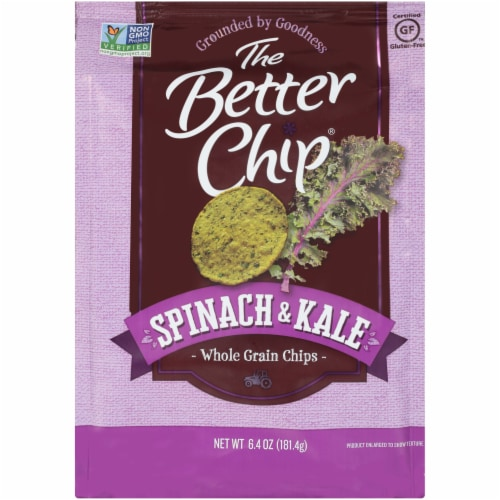 The Better Chip Spinach & Kale Whole Grain Chips Perspective: front