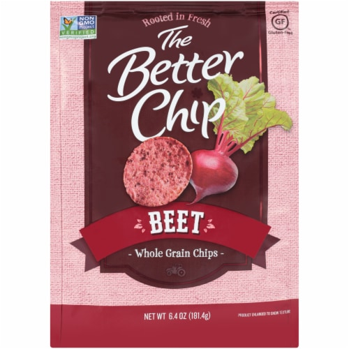 The Better Chip Whole Grain Beet Chips Perspective: front