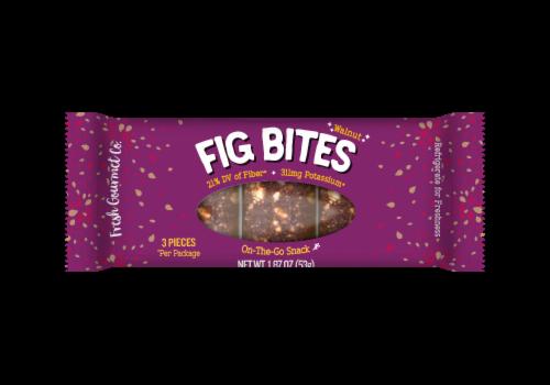 Fresh Gourmet Fig & Walnut Bites Perspective: front