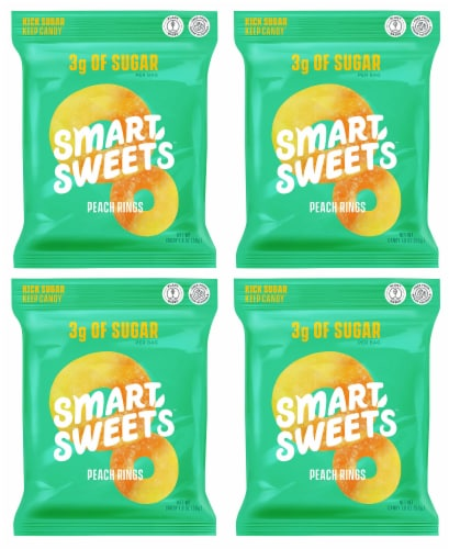 SmartSweets SMART SWEETS Peach Rings, 1.8 OZ (Pack of 4) Perspective: front