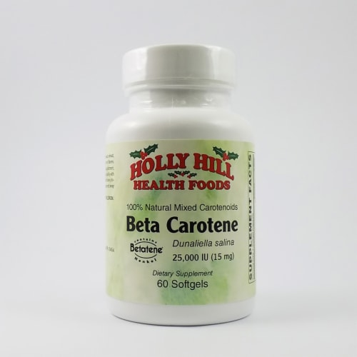 Holly Hill Health Foods, Beta Carotene, 60 Softgels Perspective: front