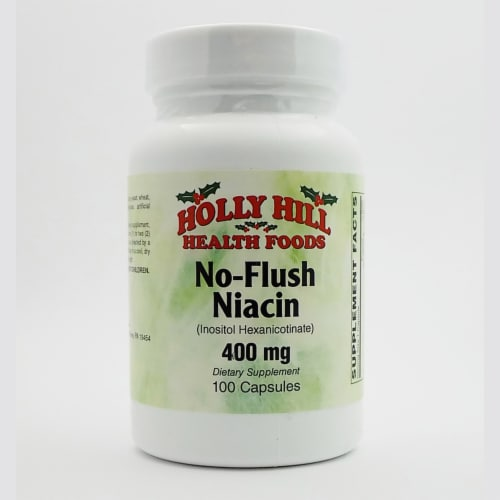 Holly Hill Health Foods, No Flush Niacin, 100 Capsules Perspective: front