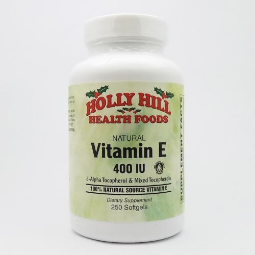 Holly Hill Health Foods, Vitamin E 400 IU, 250 Softgels Perspective: front