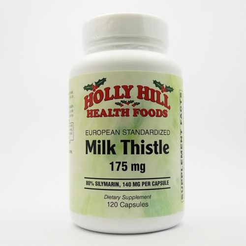 Holly Hill Health Foods, European Standardized Milk Thistle, 175 MG, 120 Capsules Perspective: front