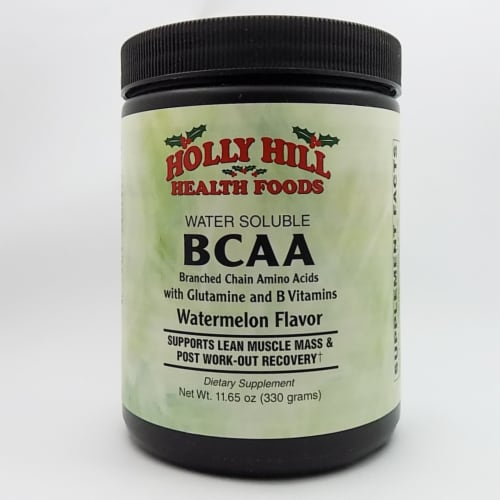 Holly Hill Health Foods, BCAA Powder, Watermelon Flavor, 11.65 Ounces Perspective: front