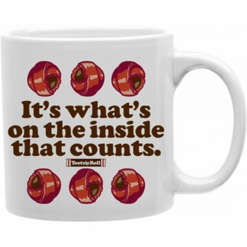 Imaginarium Goods CMG11-TR-INSIDE 11 oz. Coffe Mug, Its whats op the inside that counts Perspective: front