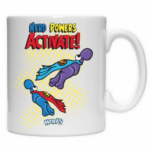 Imaginarium Goods CMG11-NES-POWERS 11 oz. Coffe Mug, Nerd Powers Activate Perspective: front