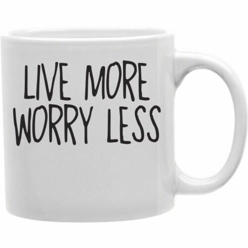 Imaginarium Goods CMG11-IGC-LMWL Lmwl - Live More. Worry Less Mug Perspective: front