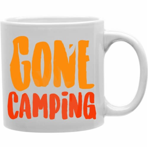 Imaginarium Goods CMG11-IGC-GONEC Orange - Gone Camping Mug Perspective: front