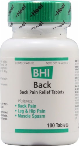 MediNatura  BHI Back Pain Relief Tablets Perspective: front