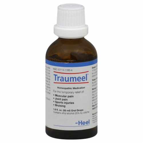 MediNatura Traumeel Pain Relief Oral Drops Perspective: front