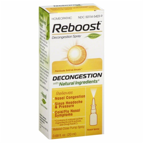 Reboot Decongestion Spray Perspective: front