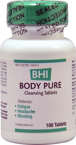 MediNatura  BHI Body Pure Cleansing Tablets Perspective: front