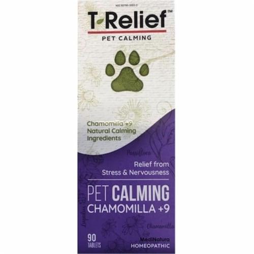 MediNatura 590014 T-Relief Pet Calming 90 Tablets Perspective: front