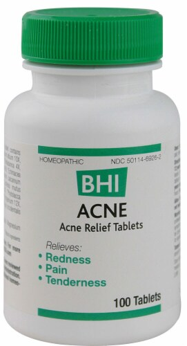 MediNatura  BHI Acne Relief Tablets Perspective: front