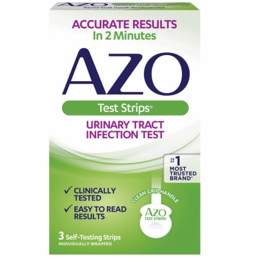 Azo Urinary Tract Infection Test Strips Perspective: front