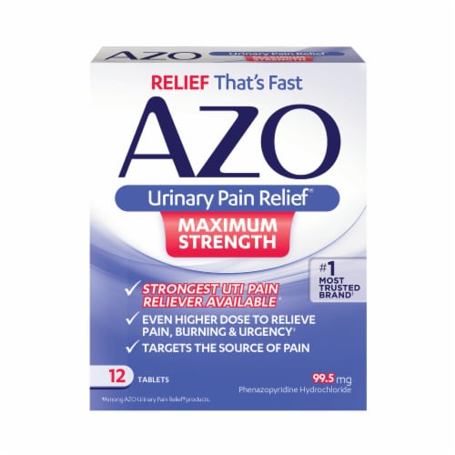 Azo Maximum Strength Urinary Pain Relief Tablets Perspective: front