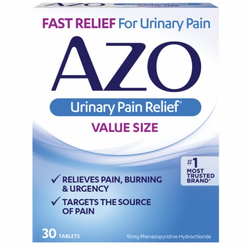Azo Urinary Pain Relief Value Size Tablets 95 mg Perspective: front