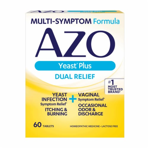 Azo Yeast Plus Infection Symptom Relief Tablets Perspective: front