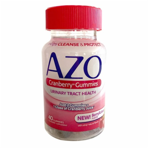 Azo Urinary Tract Health Cranberry Gummies Perspective: front