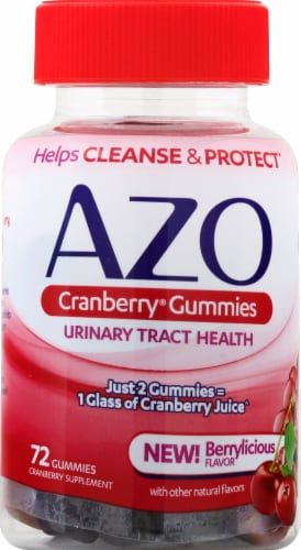 I-Health Mixed Berry AZO Cranberry Gummies Perspective: front