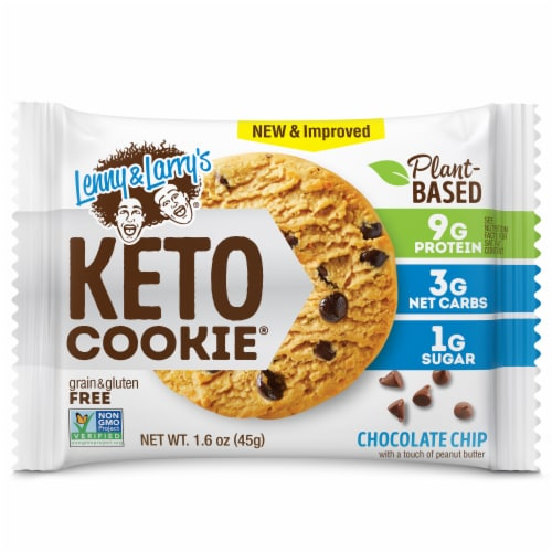 Lenny & Larry's Chocolate Chip Keto Cookie Perspective: front