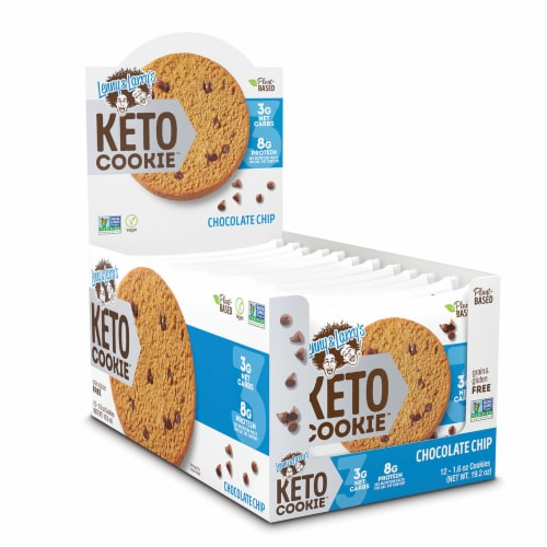 Lenny and Larry's Chocolate Chip Keto Cookies Perspective: front