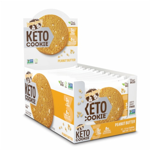 Lenny & Larry's Peanut Butter Keto Cookie Perspective: front