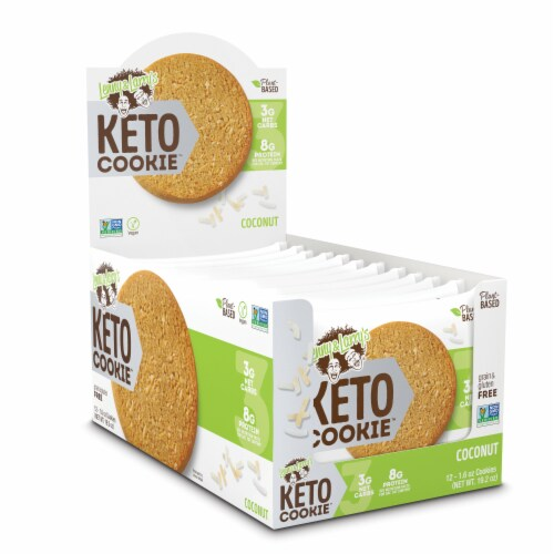 Lenny & Larry's Coconut Keto Cookie Perspective: front