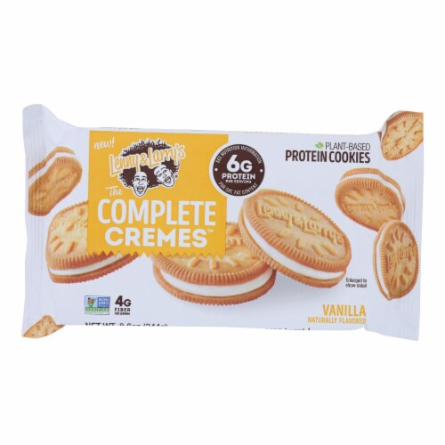 Lenny & Larry's - Creme Cookie Vanilla - Case of 6 - 8.6 OZ Perspective: front