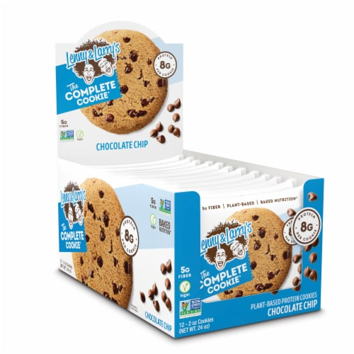 Lenny & Larry's The Complete Cookie Chocolate Chip Plant-Based Protein Cookies Perspective: front
