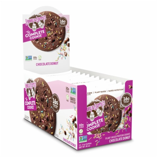 Lenny & Larry's The Complete Cookie Chocolate Donut Plant-Based Protein Cookies Perspective: front