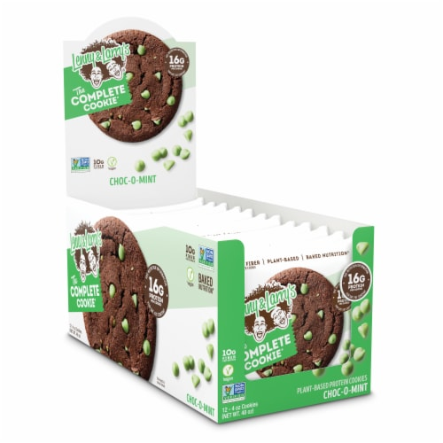 Lenny & Larry's The Complete Cookie Choc-O-Mint Plant-Based Protein Cookies Perspective: front