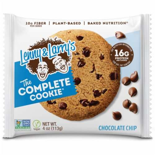 Lenny & Larry's The Complete Plant-Based Protein Chocolate Chip Cookie Perspective: front