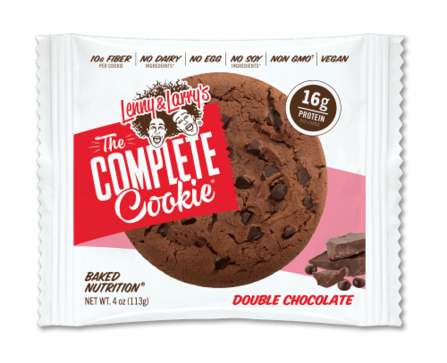 Lenny & Larry's The Complete Plant-Based Protein Double Chocolate Cookie Perspective: front