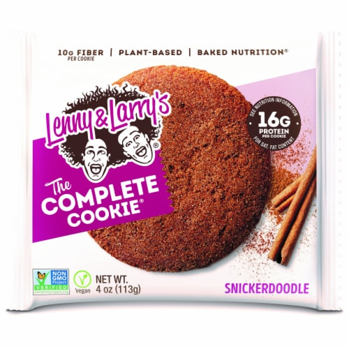 Lenny & Larry's The Complete Plant-Based Protein Snickerdoodle Cookie Perspective: front