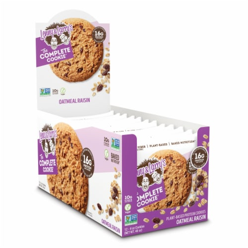 Lenny & Larry's The Vegan Complete Cookie Oatmeal Raisin Cookies Perspective: front