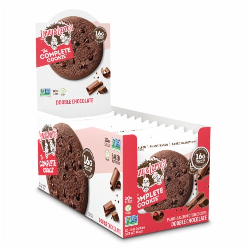Lenny & Larry's The Complete Cookie Double Chocolate Plant-Based Protein Cookies Perspective: front