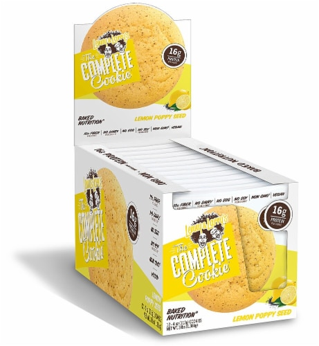 Lenny & Larry's The Complete Cookie Lemon Poppy Seed Cookies Perspective: front