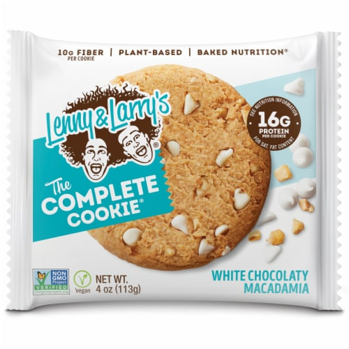 Lenny & Larry's The Complete Cookie White Chocolate Macadamia Cookie Perspective: front