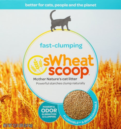Swheat Scoop Fast-Clumping Wheat Cat Litter Perspective: front