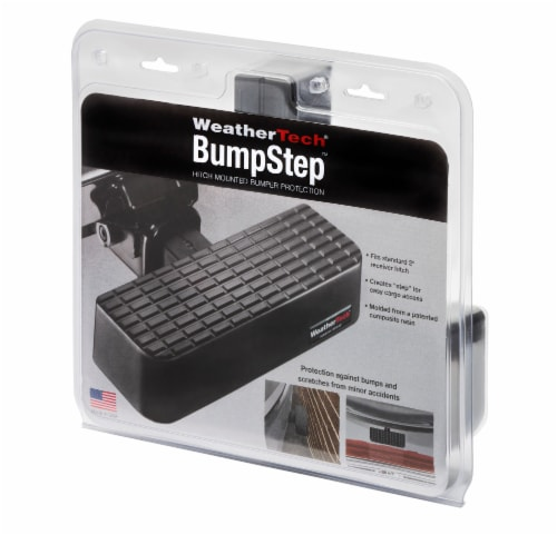 WeatherTech BumpStep Hitch Mounted Bumper Protection - Black Perspective: front