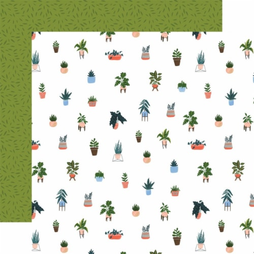 Plant Lady Double-Sided Cardstock 12 X12 -House Plant Perspective: front